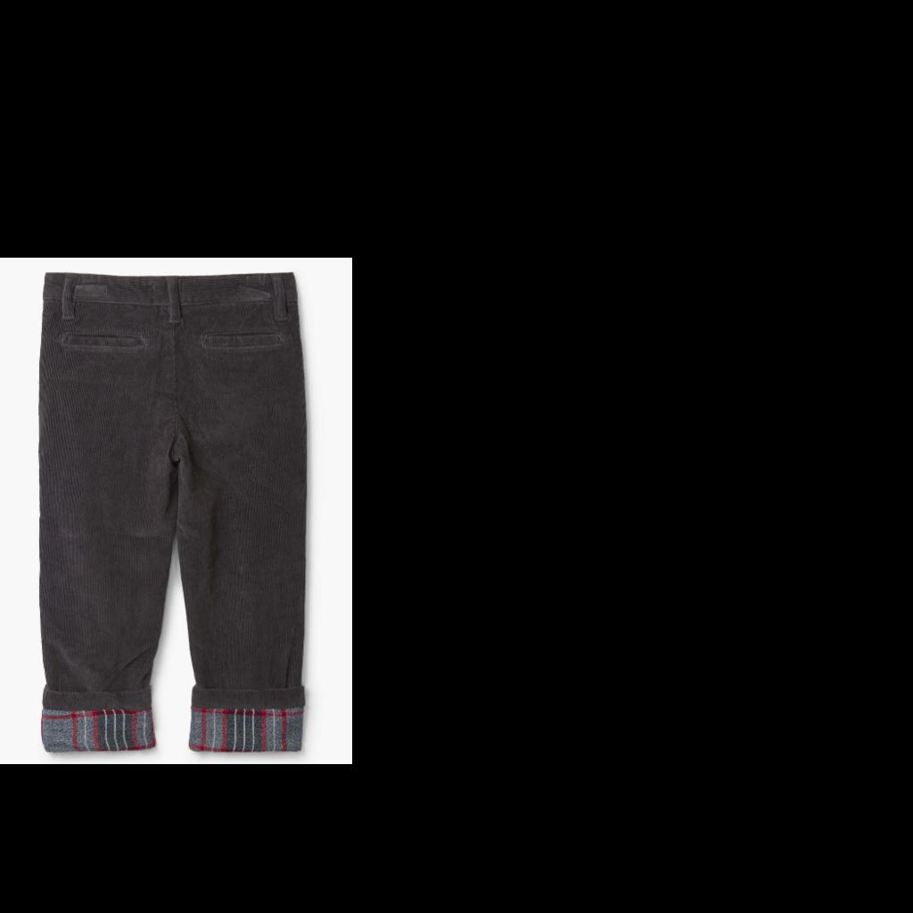 Hatley   Grey Stretch Cord Pant