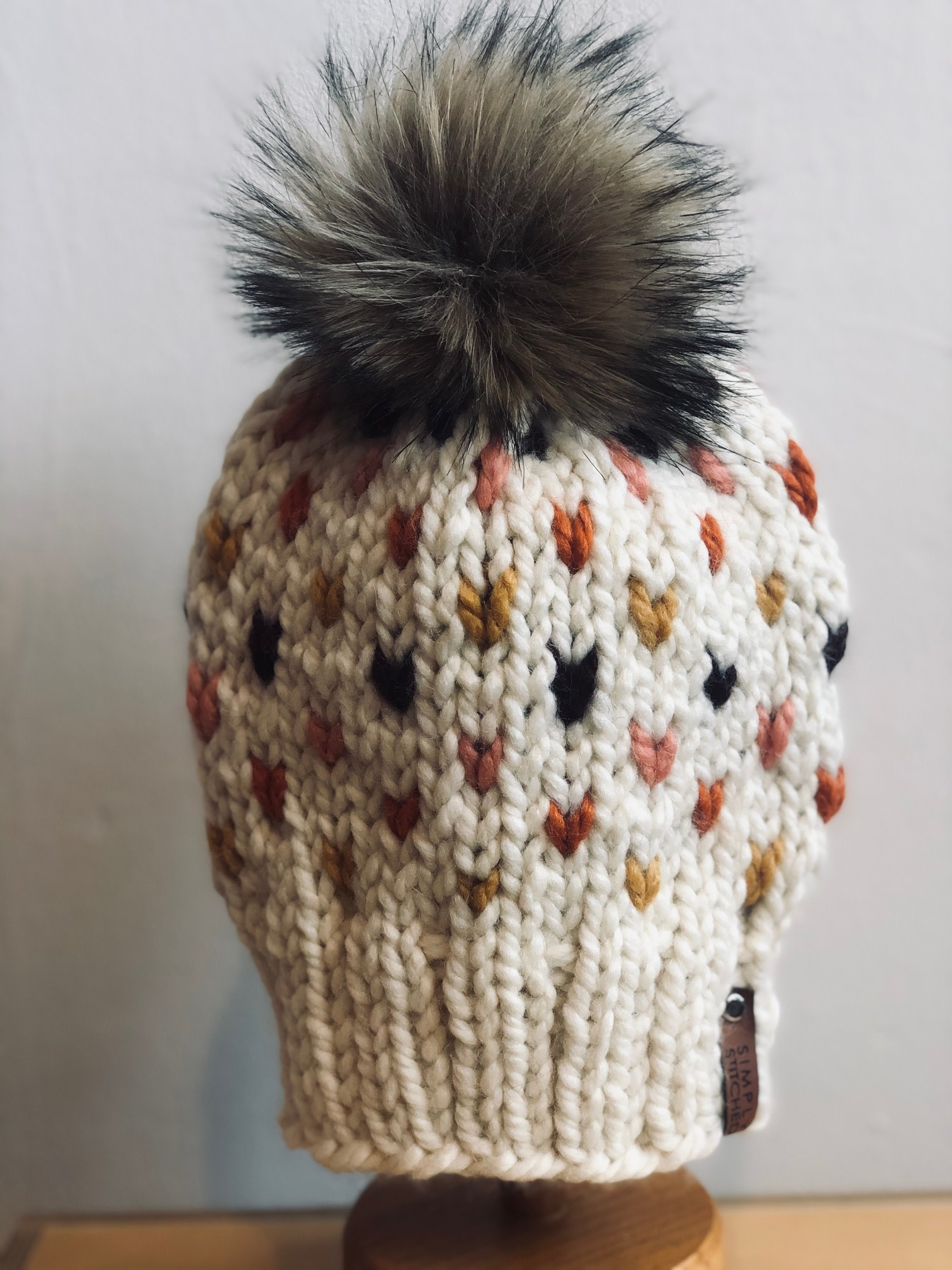 Simply Stitched Simply Stitched | Handmade Tiny Hearts Hat