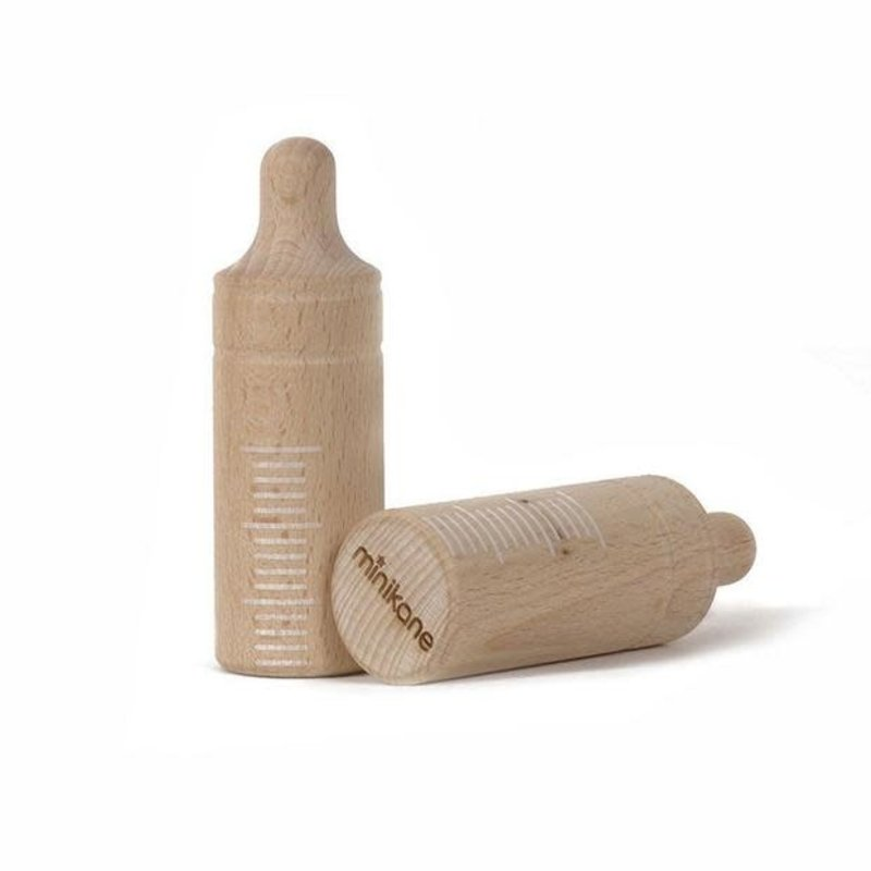 Minikane Minikane   Wood Baby Bottle