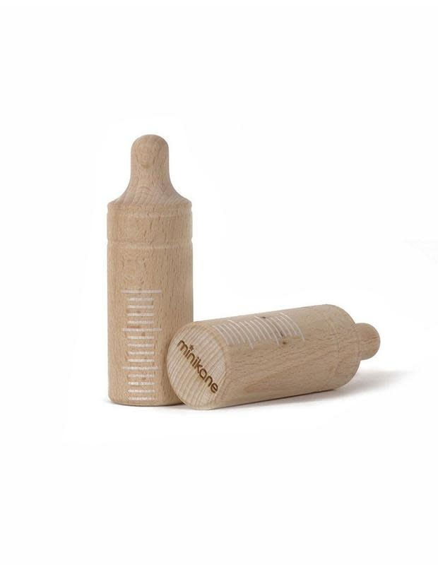 Minikane Minikane | Wood Baby Bottle