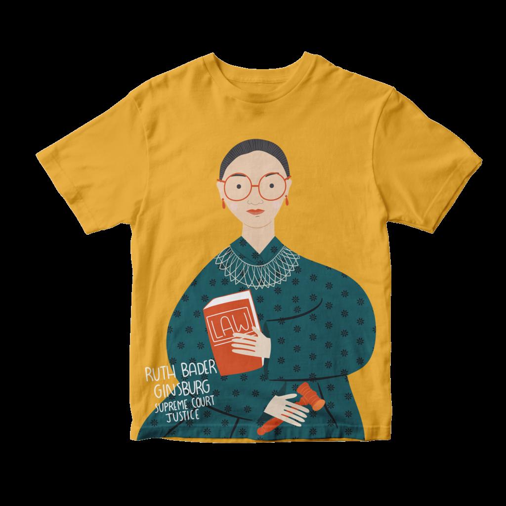 Piccolina Piccolina   Ruth Bader Ginsburg Short Sleeve Tee