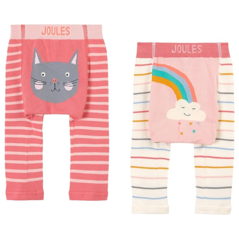 Joules | Lively Leggings Cat and Rainbow