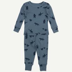Oliver & Rain Oliver & Rain   Organic Cotton Wolf Print Pajamas