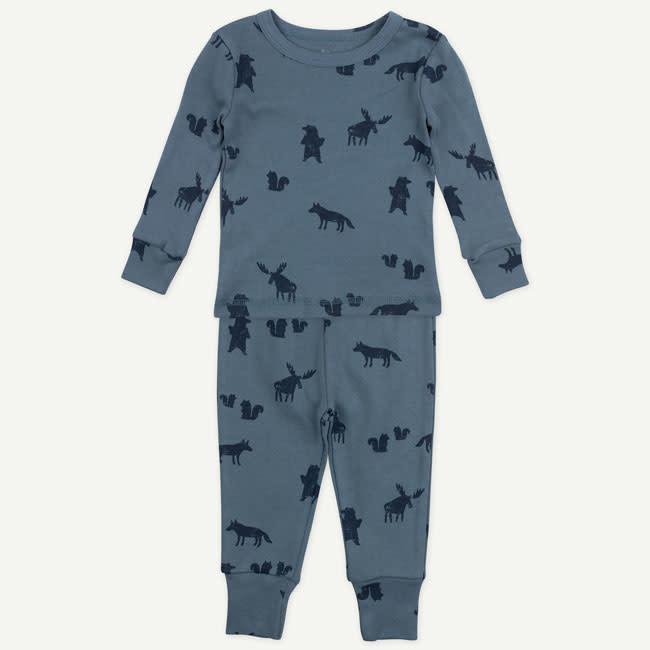 Oliver & Rain Oliver & Rain | Organic Cotton Wolf Print Pajamas