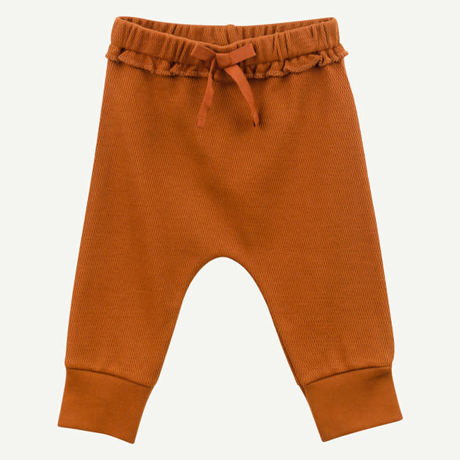Oliver & Rain Oliver & Rain | Organic Cotton  Almond Brown Thermal Pant
