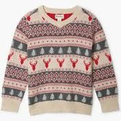 Hatley Hatley | Fair Isle Stags V-Neck Sweater