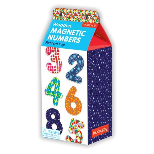 Wooden Magnetic Numbers: Pattern Pop 123