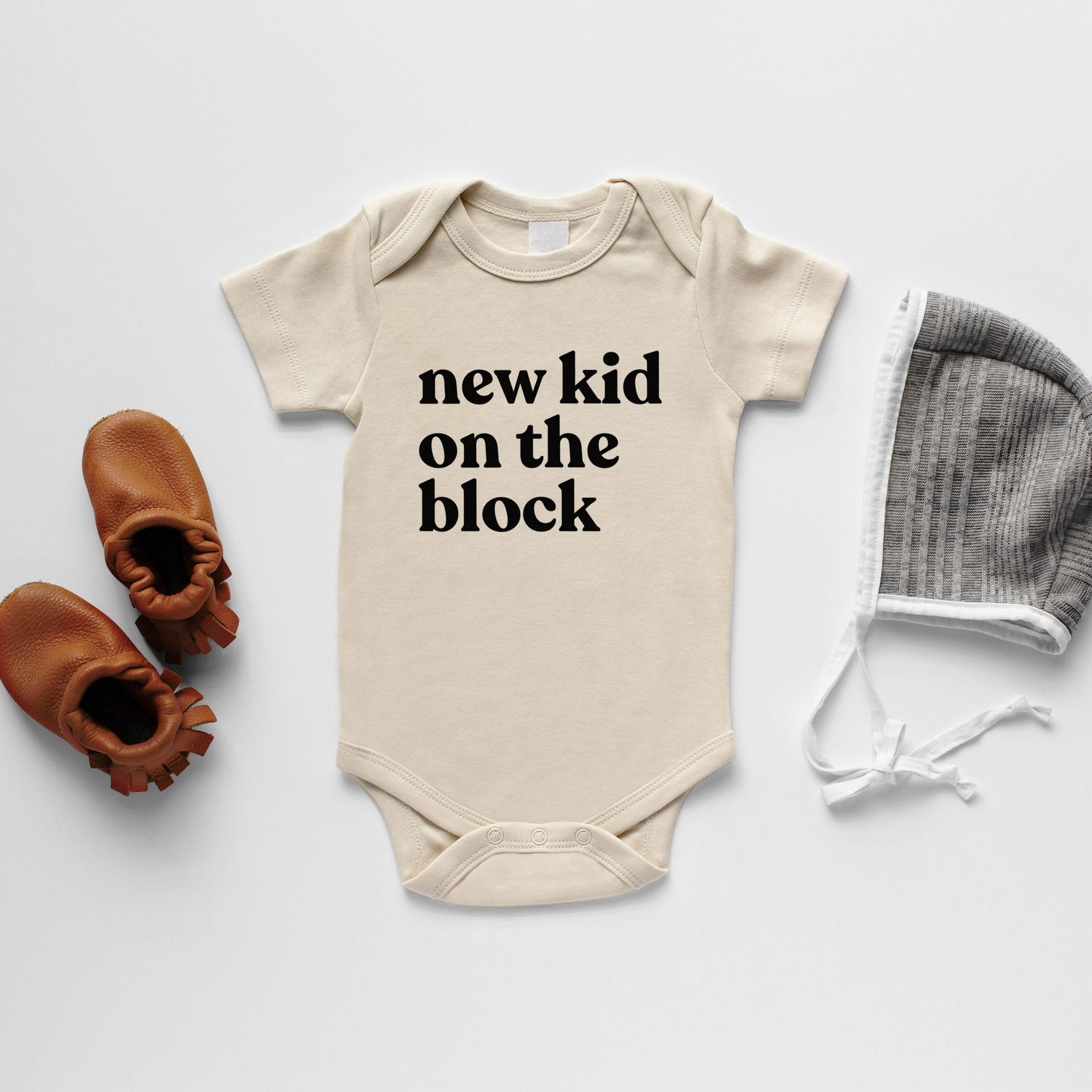 Gladfolk Gladfolk | New Kid on the Block Long Sleeve Onesie