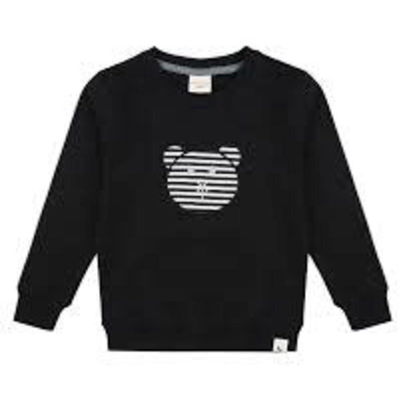 Turtledove London Turtledove London   Bear Applique Organic Cotton Crewneck Sweatshirt