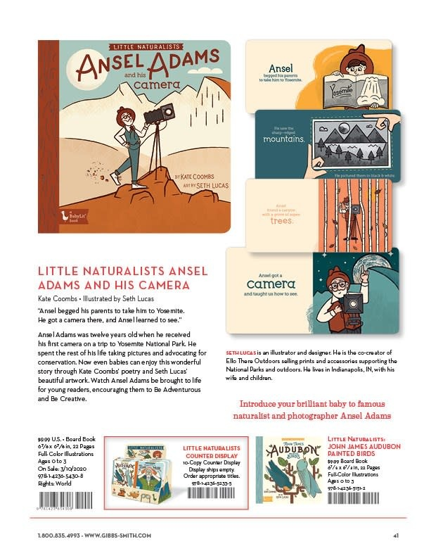 Gibbs Smith Little Naturalists: Ansel Adams and His Camera