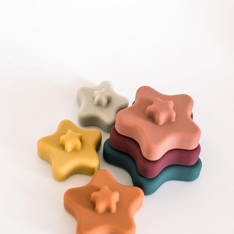 Three Hearts Modern Teething Accessories Three Hearts |  Stella Star Stacker Set Muted
