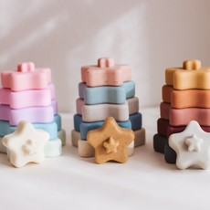 Three Hearts Modern Teething Accessories Three Hearts    Stella Star Stacker Set Muted