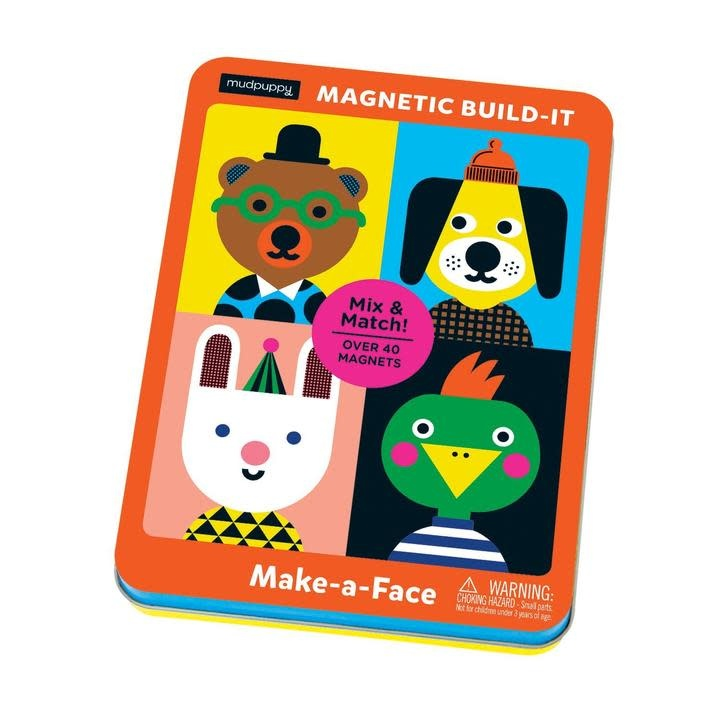 Mudpuppy | Make -A-Face Magnetic Build It Tin