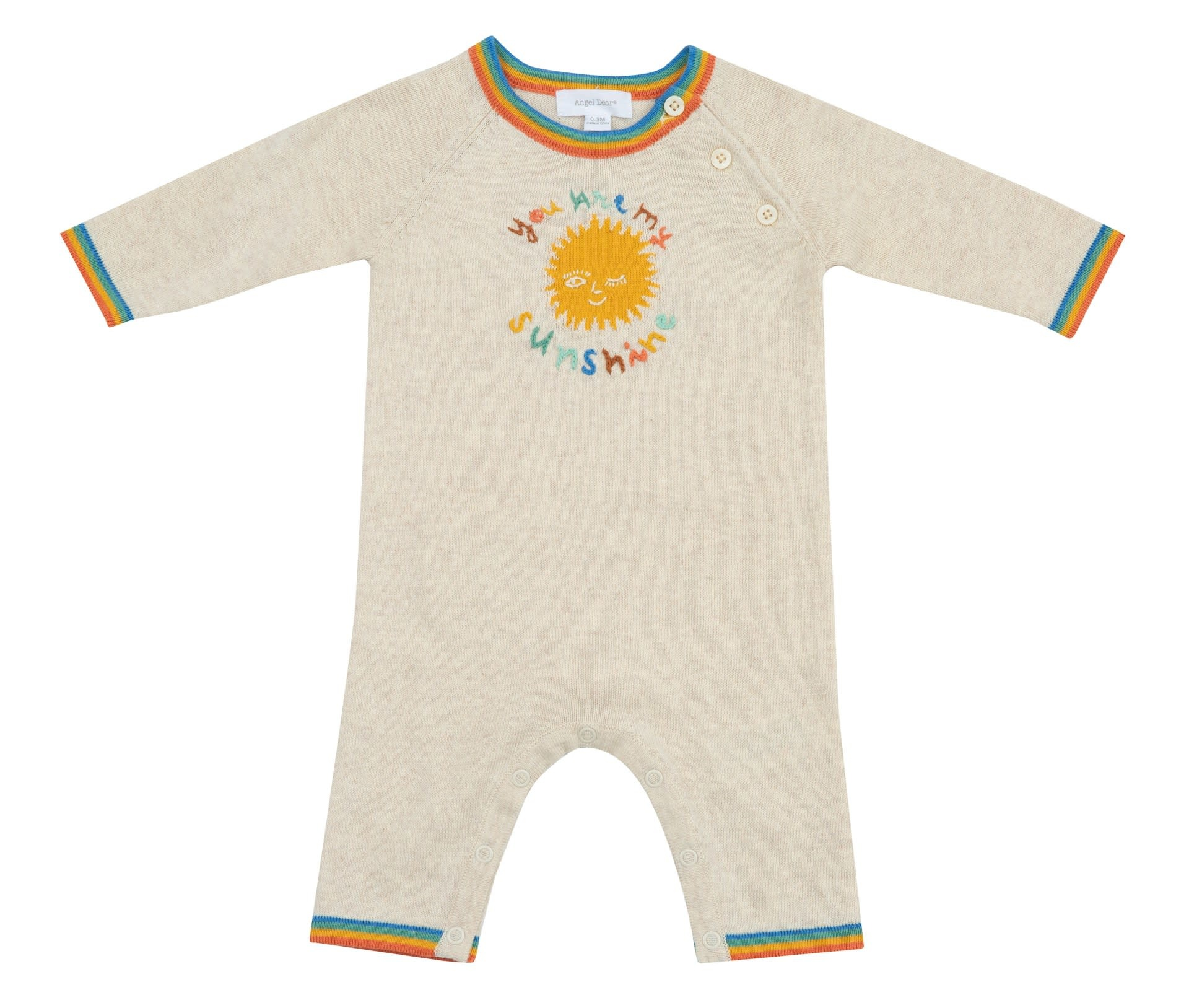 Angel Dear Angel Dear | You Are My Sunshine Vintage Knit Coverall