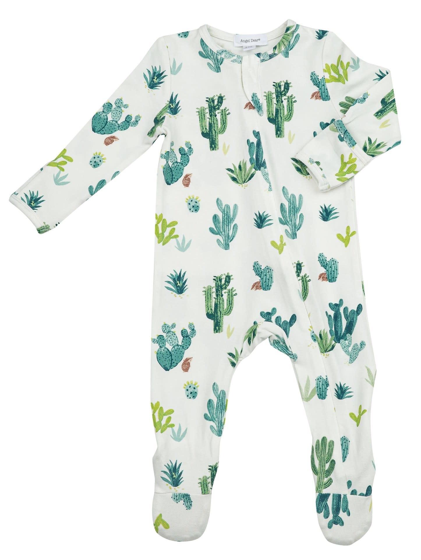 Angel Dear Angel Dear   Cactus Zipper Footie Newborn
