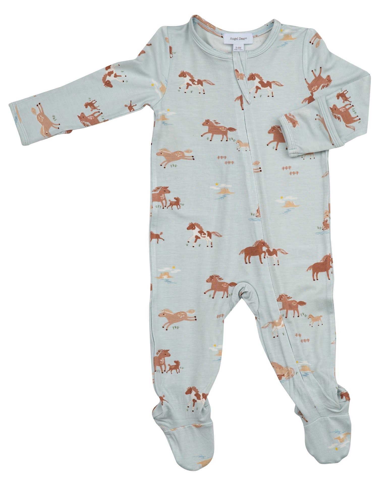 Angel Dear Angel Dear | Wild Horses Zipper Footie