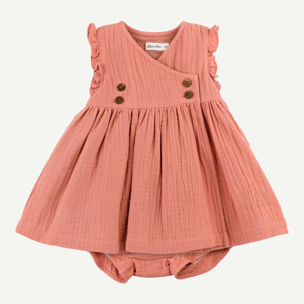 Oliver & Rain Oliver & Rain | Organic Cotton Crinkle Gauze Dress