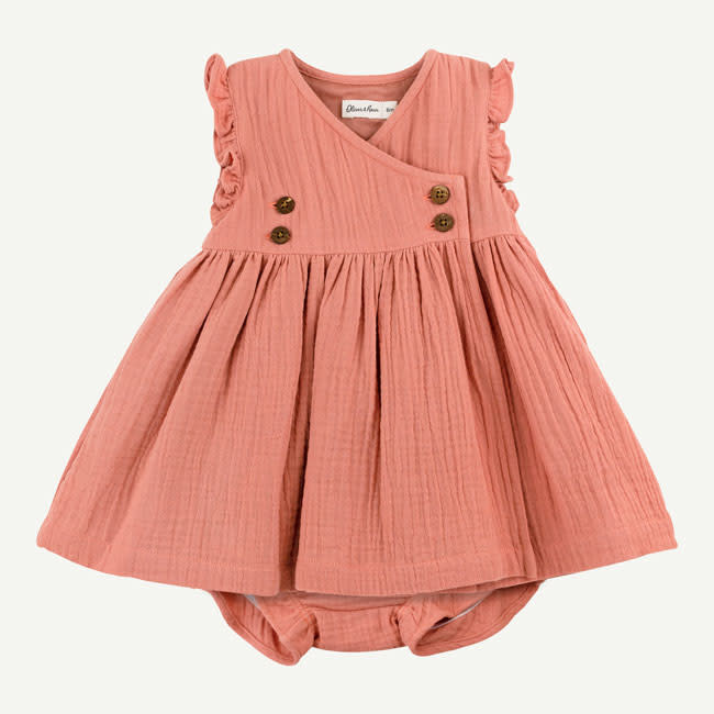 Oliver & Rain Oliver & Rain | Organic Cotton Crinkle Gauze Dress