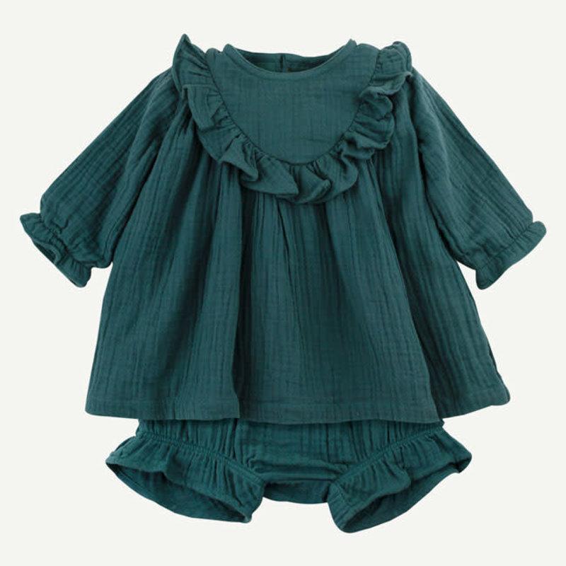 Oliver & Rain Oliver & Rain | Organic Cotton Woven Gauze Dress Set
