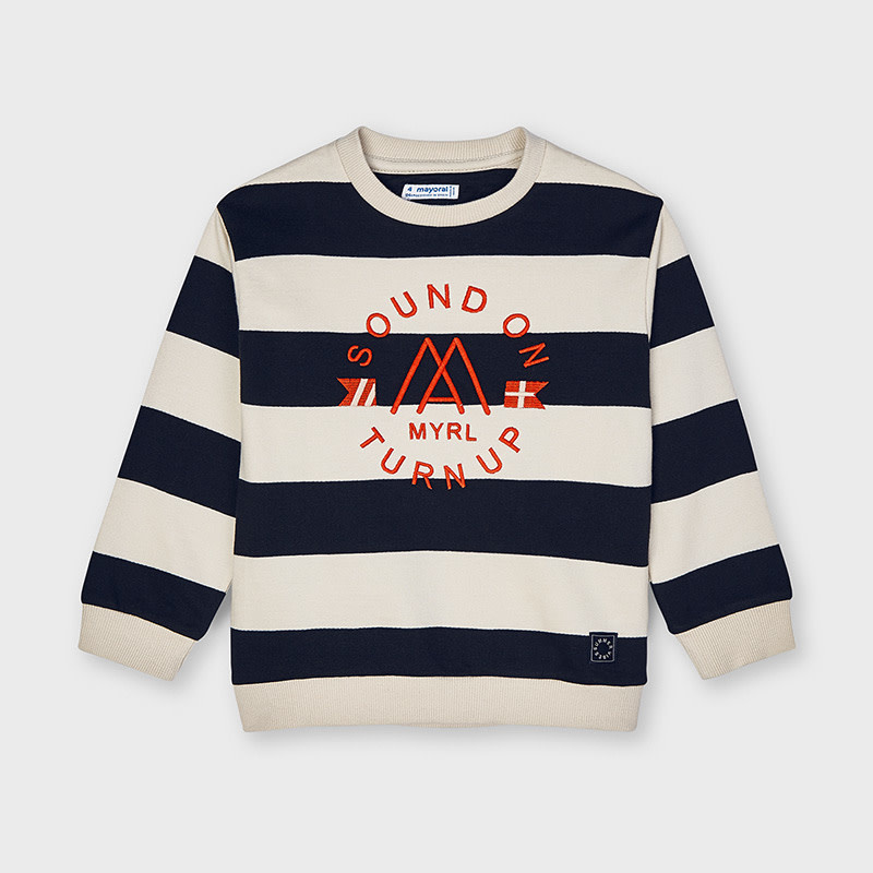 Mayoral Mayoral | Striped Crewneck