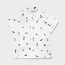 Mayoral Mayoral | Printed Cotton Button Up