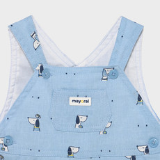 Mayoral Mayoral | Doggy Overall Short Onesie