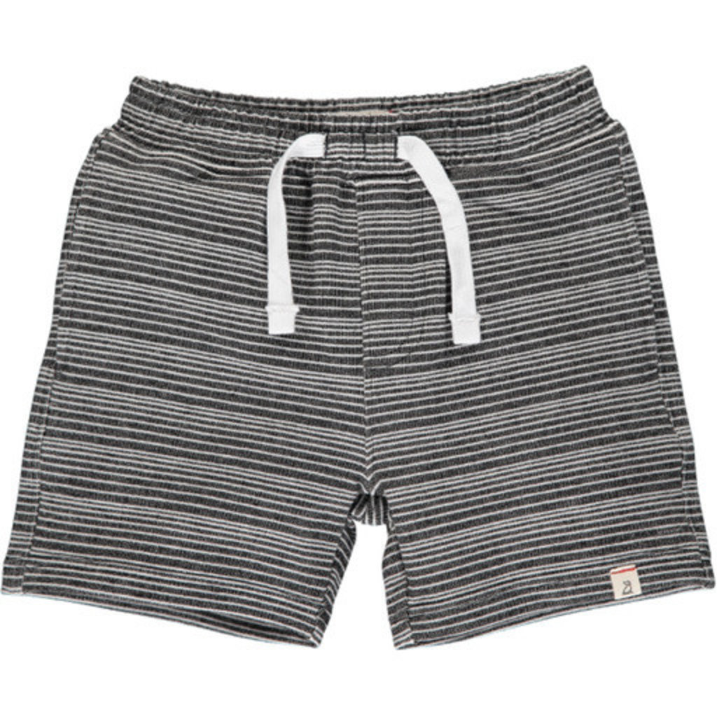 Me & Henry Me & Henry   Black and White Striped Sweat Short