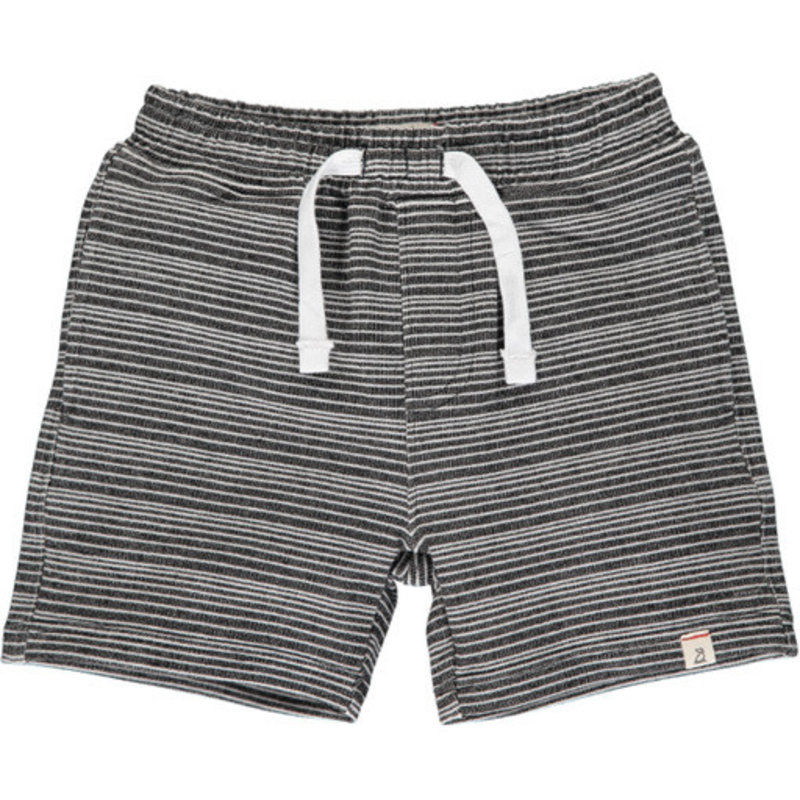 Me & Henry Me & Henry | Black and White Striped Sweat Short