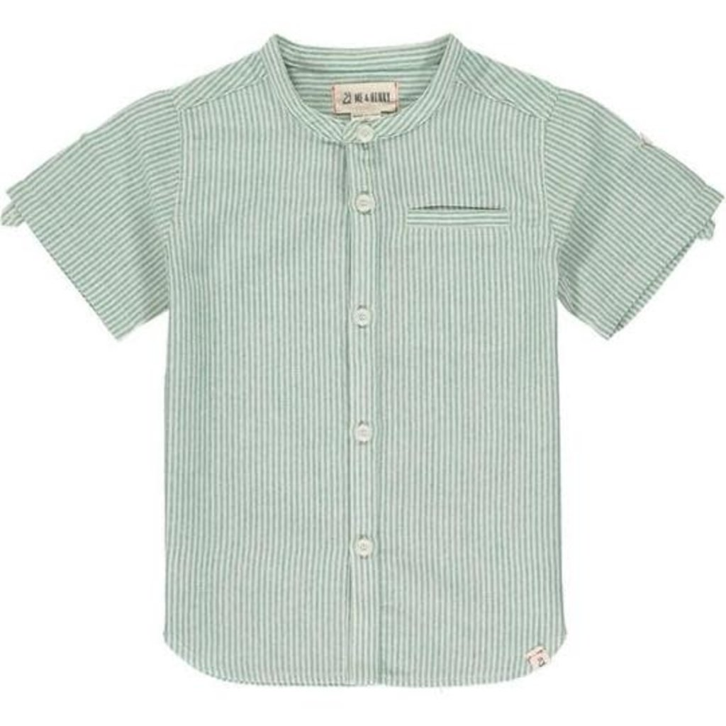 Me & Henry Me & Henry | Shoreline Round Neck Button Up Green