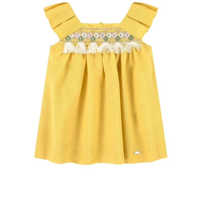 Mayoral Mayoral | Embroidered Linen Dress