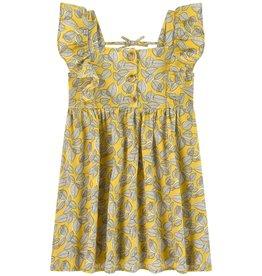 Mayoral Mayoral   Yellow Leaf Printed Dress