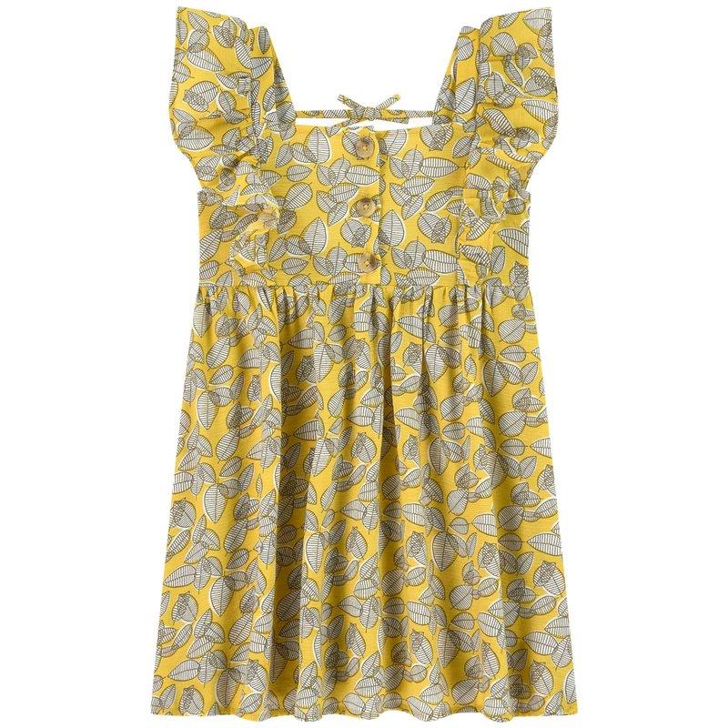 Mayoral Mayoral | Yellow Leaf Printed Dress