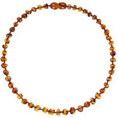 Powell's Owls Powell's Owl Polished Amber Teething Necklace