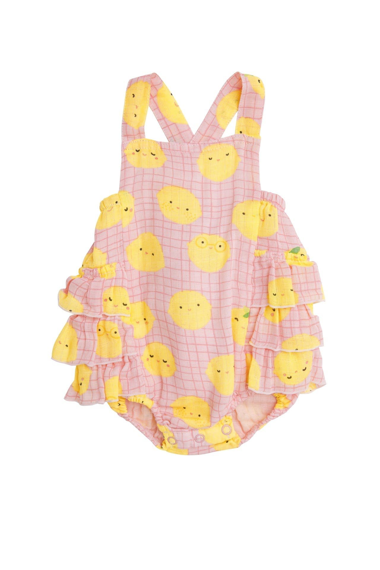 Angel Dear Angel Dear | Lemon Ruffle Sunsuit