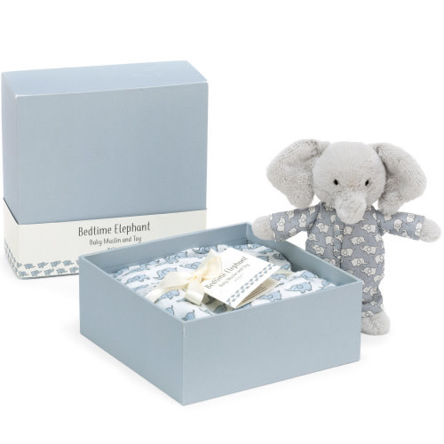 JellyCat Jellycat | Bedtime Elephant Toy & Muslin Set