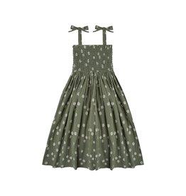 Rylee + Cru Rylee + Cru   Daisy Ivy Smocked Dress Fern