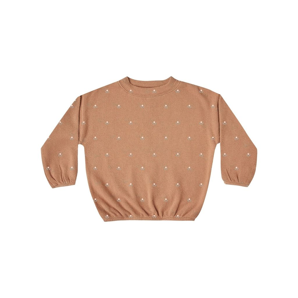 Rylee + Cru Rylee + Cru | Printed Slouchy Pullover Terracotta