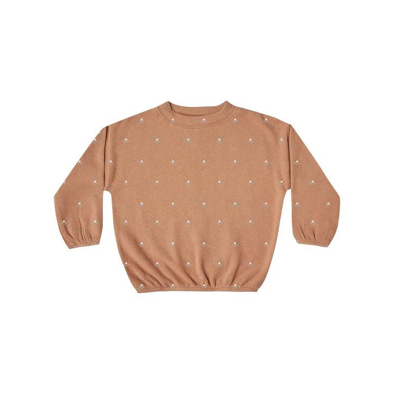 Rylee + Cru Rylee + Cru   Printed Slouchy Pullover Terracotta