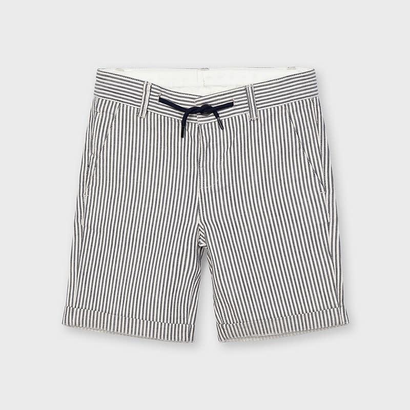 Mayoral Mayoral | Navy Stripe Cotton Short