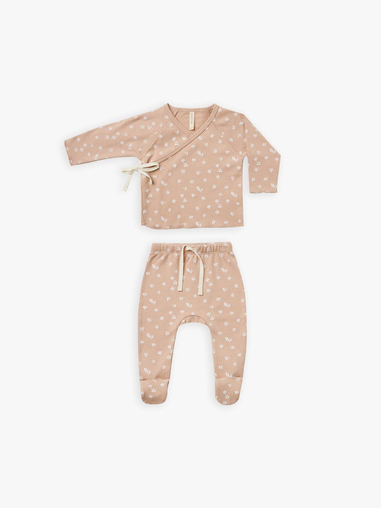 Quincy Mae Quincy Mae | Wrap Top + Pant Set Blossom Petal
