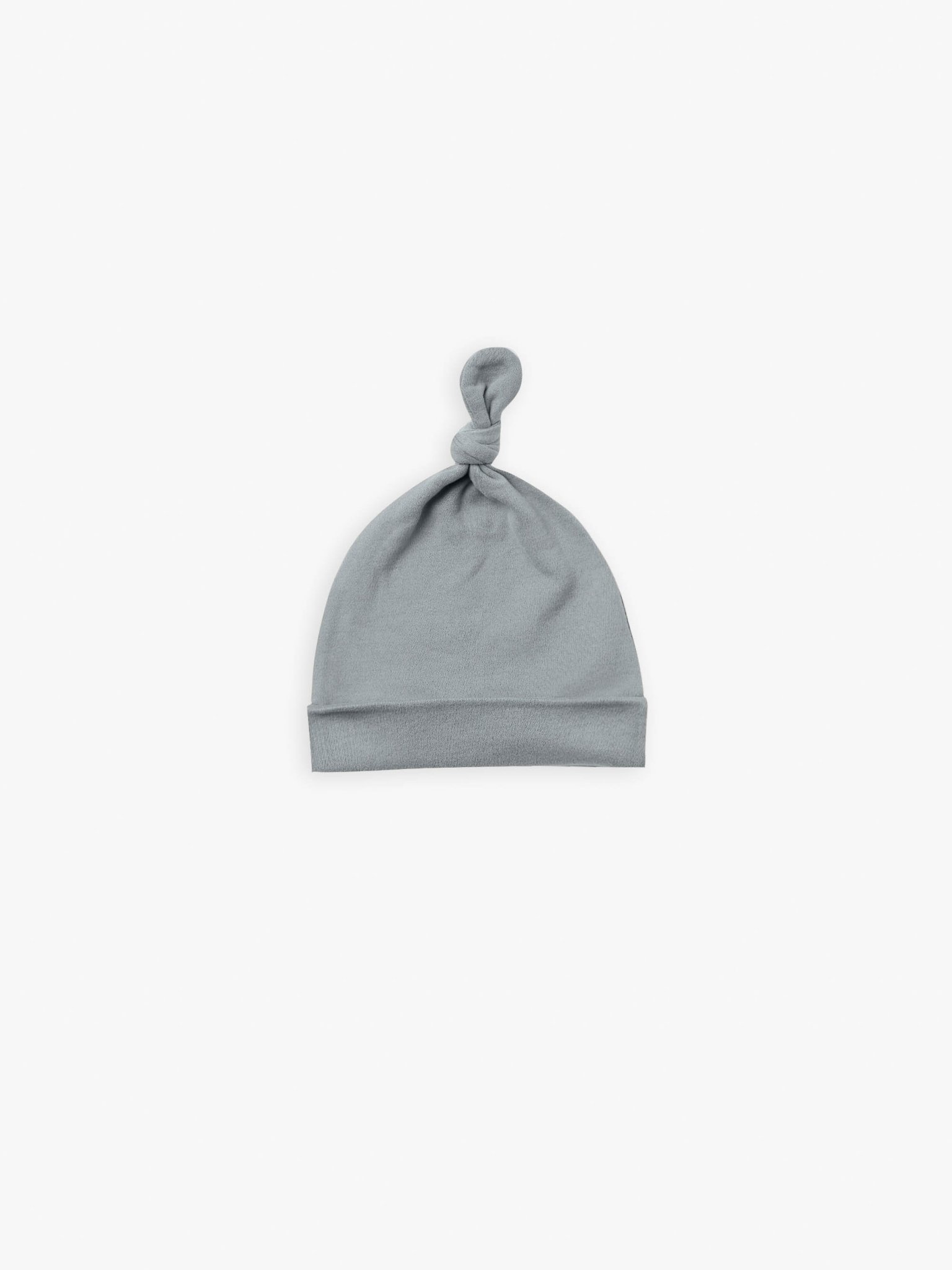Quincy Mae Quincy Mae | Knotted Hat Ocean | 0-6 Mos