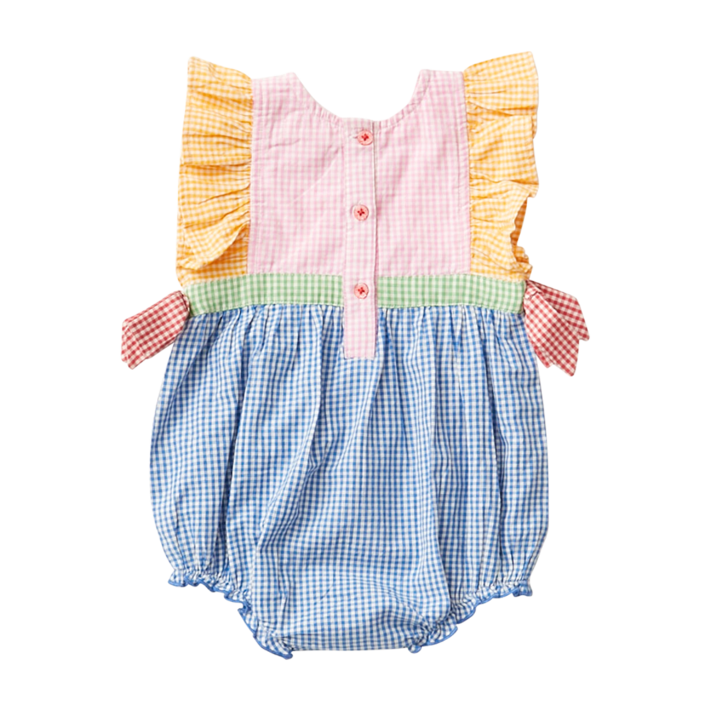 PINK CHICKEN Pink Chicken | Amy Bubble Mixed Gingham