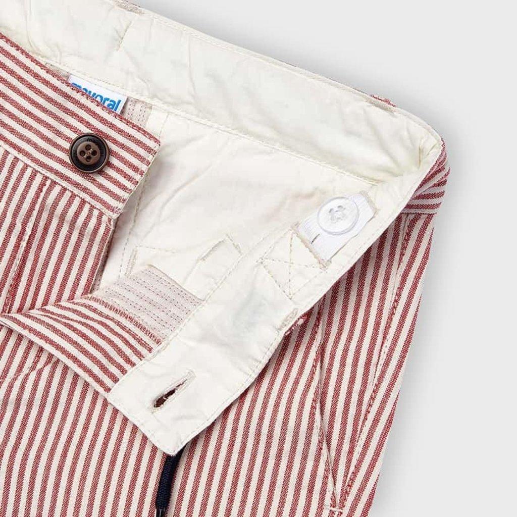 Mayoral Mayoral   Red Stripe Cotton Short