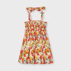 Mayoral Mayoral | Smocked Dress w/ Matching Bow Summer Fruit