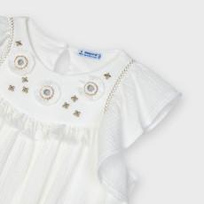 Mayoral Mayoral | Embroidered Applique Dress