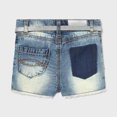 Mayoral Mayoral   Embroidered Denim Shorts and Belt