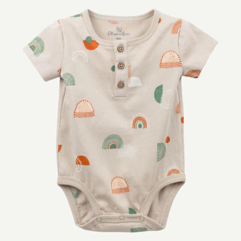 Oliver & Rain Oliver & Rain | Organic Cotton Oasis Geo Print Bodysuit