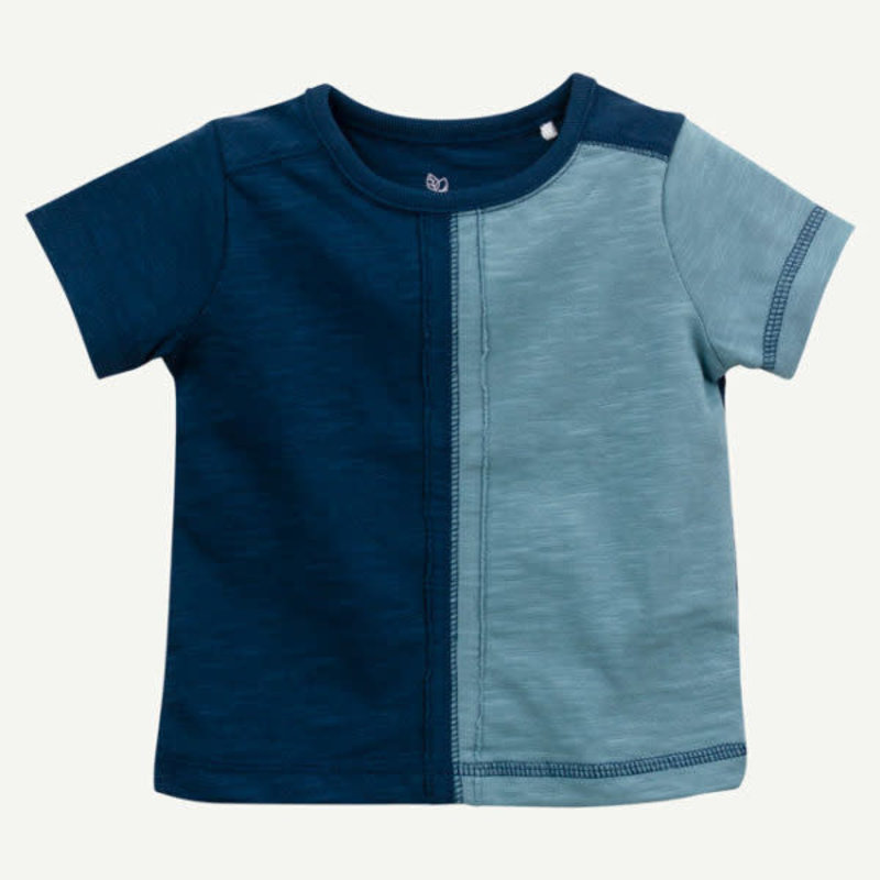 Oliver & Rain Oliver & Rain   Organic Cotton Color Block Tee Blue