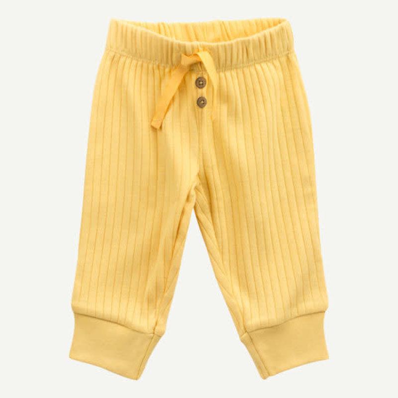 Oliver & Rain Oliver & Rain | Organic Cotton Rib Pant Yellow
