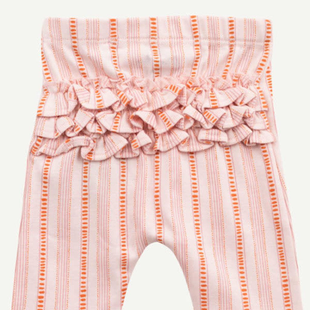 Oliver & Rain Oliver & Rain | Organic Cotton Pale Pink Ruffle Legging